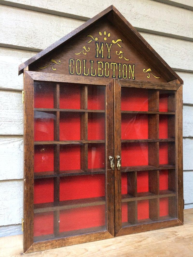 手工製My Collection老件小物展示櫃