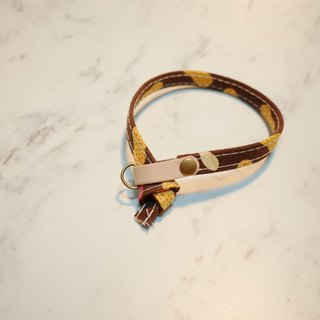 Cat Collar Peanut Province Magic Coffee Double-sided design can be purchased tagged with bells