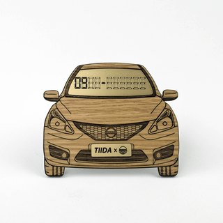 [NISSAN BIG TIIDA] exclusive white oak wood temporary parking card number