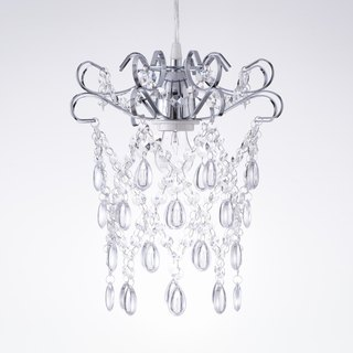 BNL00048- chrome-plated flat iron box transparent acrylic bead chandelier
