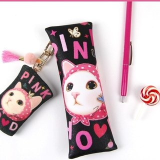 JETOY, sweet cat Q version Pencil _Pink hood (J1605406)
