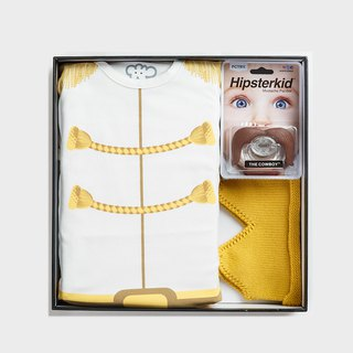 La Chamade / MIT Prince Charming Gift Set (bodysuit+hat+pacifier)