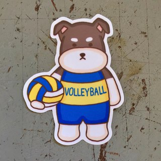 Schnauzer volleyball small waterproof sticker SS120