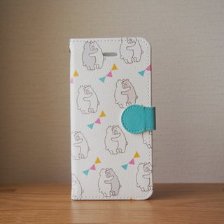 Notebook type iPhone case - HUG BEAR -