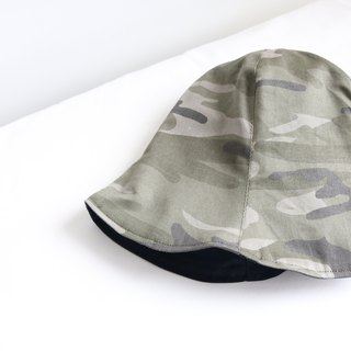 Neutral camouflage handmade double-sided hat fisherman hat