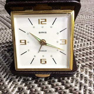 Birks suitcase travel wrist clock