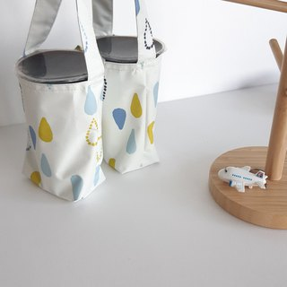 Valentine drink bag _ water droplets 2 with environmentally friendly waterproof beverage bag _2 cup can be 1 cup _ environmentally friendly small things