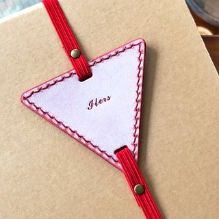Finished Products - Triangle Bookmarks Original Handmade Leather Bookmarks Leather Bookmarks White Waxed Vegetable Skins