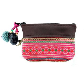 TEXTILE MULTI COLORED JACKET SLEEVE FABRIC COIN PURSE
