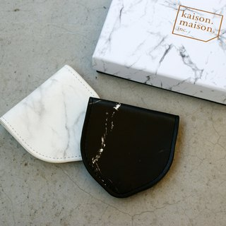 Black marble coin purse
