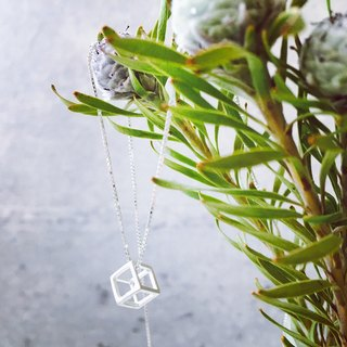 Sterling Silver [Single Cube Necklace]