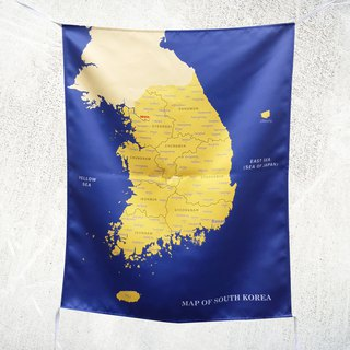Korea map hanging wallpaper