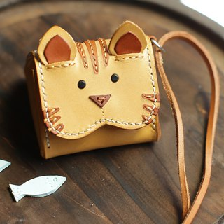 Imperial rice ball small orange cat animal three-dimensional purse