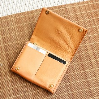 Portrait Card Wallet,Italian Milled Leather Wallet