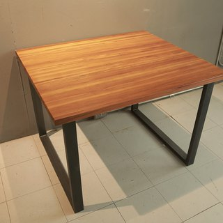 Industrial wind teak dining table ****showing samples on clearance - while supplies last*
