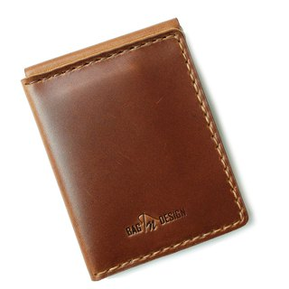 กระเป๋าหนังแท้ Money Clip Wallet V.2 Bi-fold Card Slide handmade