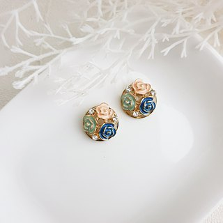 Rose Earring【Cr0196-2 】