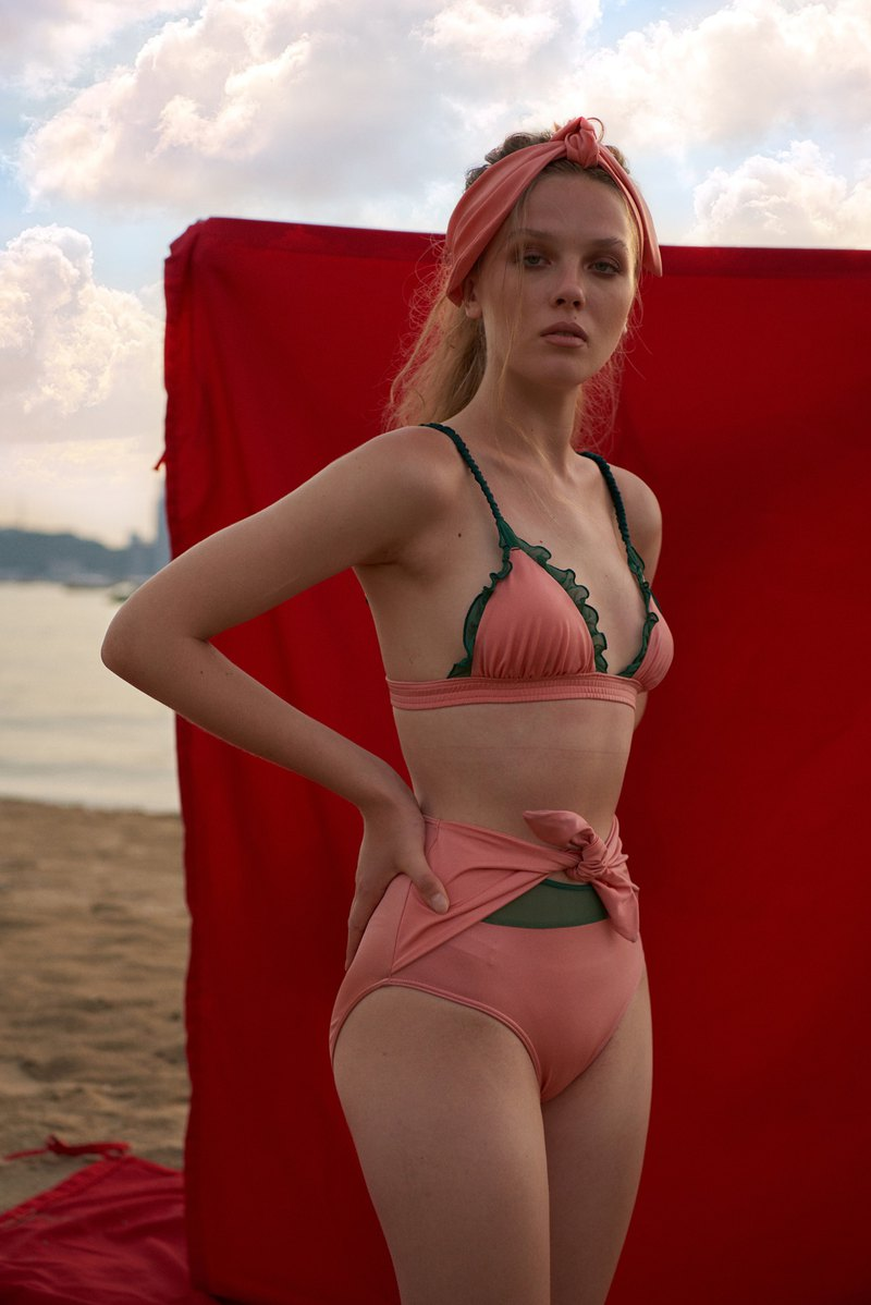 Aprilpoolday Swimwear / CAPSULE HOPELAND / Old Rose / S (high waist)
