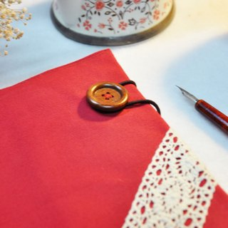 Hand clothes for the book [notebook] Touch of the Light festive red canvas subsection (Big = A5)