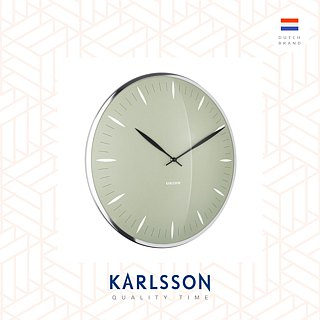 Karlsson, Wall clock Dragonfly blue, Dome glass. Design Boxtel & Buijs