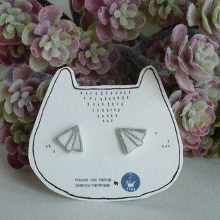 Paper planes polymer clay earrings