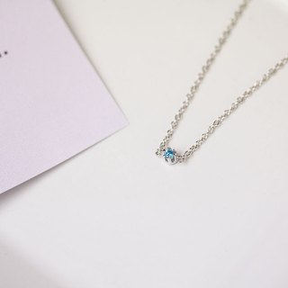 Single Diamond Fine 925 Sterling Silver Necklace