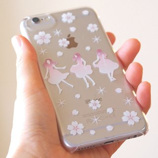 Clear iPhone case - Japanese Cherry blossoms SAKURA DANCE -