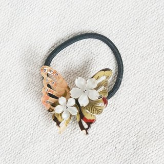 Charming Autumn Feng, butterfly hair bundle, hair ring - autumn yellow