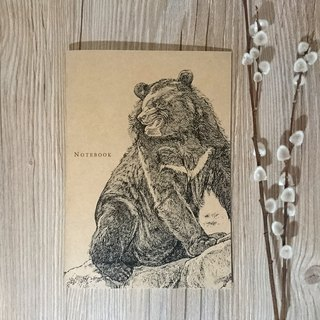 Taiwan black bear - animal line painted notebook