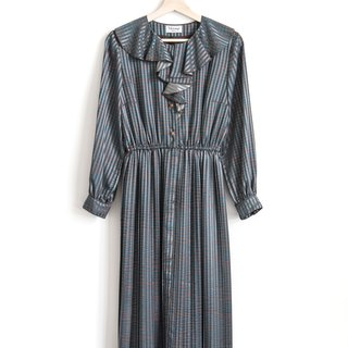 Vintage Ruffled Vintage Long Sleeve Dress