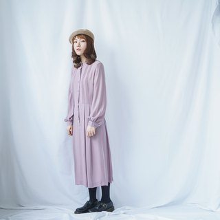 Vintage Pastel Purple Stand Collar Dress