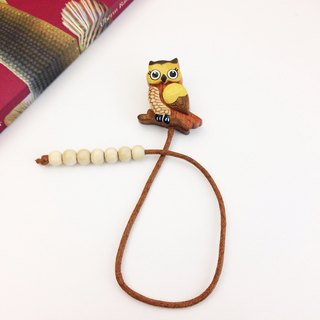 Owl Rope Bookmark ✦ April ︱ Handmade wooden bookmarks