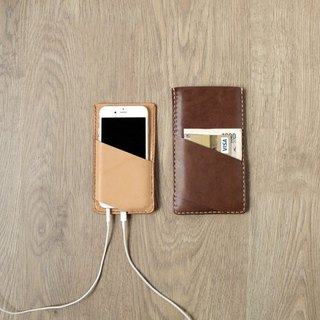 iPhone 5/6 / 6s / 7 functional handmade genuine leather jacket (free custom lettering)