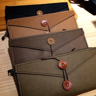 Taiwan's letter / green waterproof paper wallets (washed kraft paper leather)