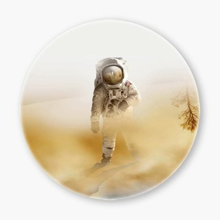 Snupped Ceramic Coaster - 陶瓷杯墊 - Playing Mars on the deser