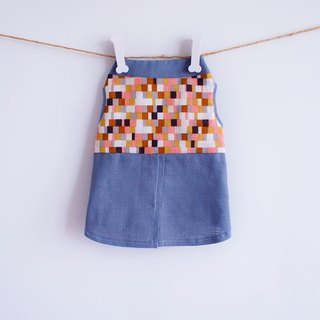 Can be customized. Mosaic series gray-blue fake shirt clothes pet clothes