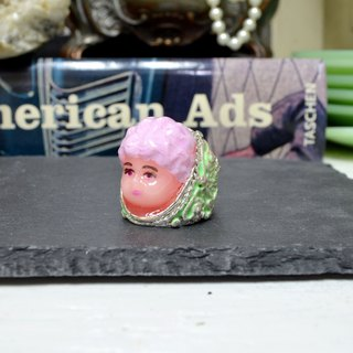 TIMBEE LO handmade purple hair lady doll ring