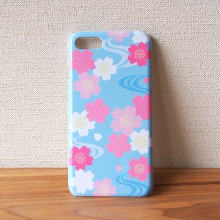 Plastic android phone case - Japanese Cherry Blossoms and Water Flow -