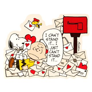 Snoopy days I always receive love letters [Hallmark-Peanuts Snoopy - Stereo Card Multipurpose]
