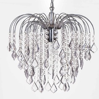 BNL00034- chrome six transparent acrylic bead chandelier Fountain