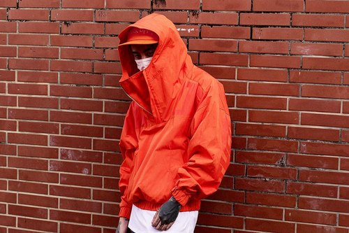 "RADICAL street brands online store 16 A / W ""F / O / M / F COAT"" Water repellent hooded windbreaker jacket orange"