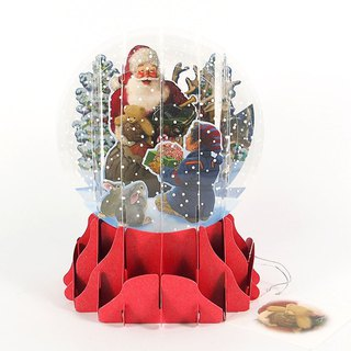 Send a gift to the old man snowball stereo card [Up With Paper-card Christmas series]