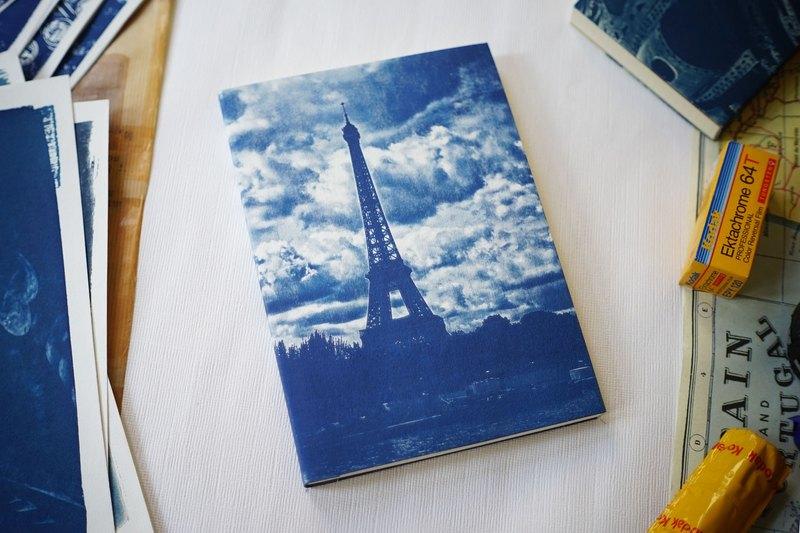 手工藍曬筆記本 - A5大尺寸 - 塞納河畔