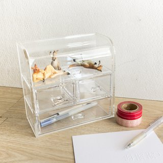 New transparent stationery twisted egg doll storage box