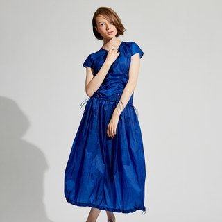 Navy Blue Elastic Dress / (1801DS02BL-S/M)