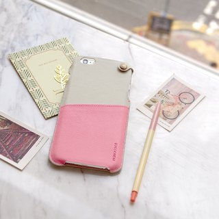 POSH | SOFT LEATHER POUCH FOR IPHONE 6/6S Plus - Pink