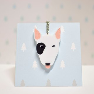 Bull Terrier - Keyring - Pet Accessories - Pet Charm - Hairy Kids - Gifts - Custom - Acrylic - BU