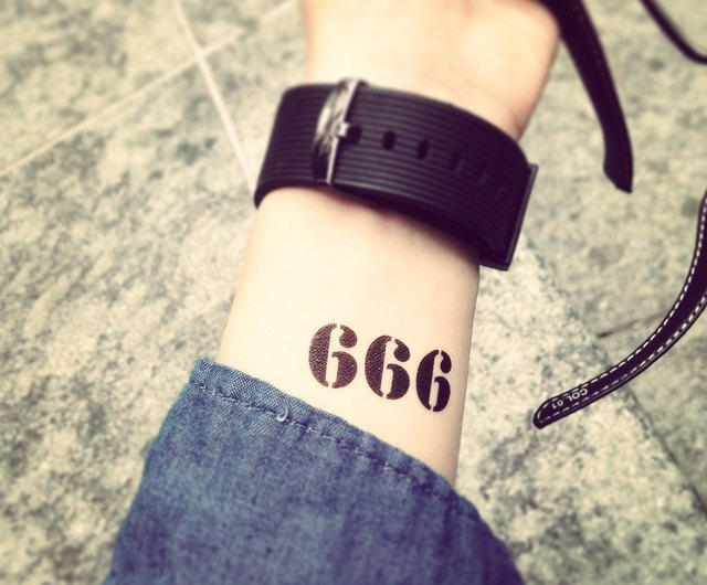 666 tattoo What Does