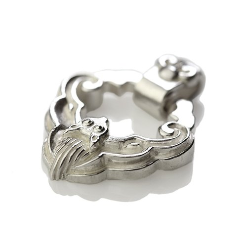 Silver ink NEROSILVER - FH-LLL02 longevity lock [925] silver jewelry longevity long necklace Chinese wind / manual silver
