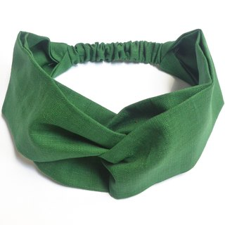 Loose hair band - dark green